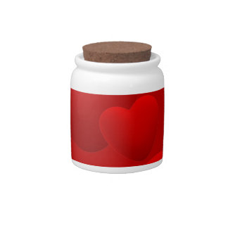 RED LAYERED 3D HEARTS LOVE MOTIVATIONAL SWEETHEART CANDY DISH