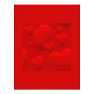 RED LAYERED 3D HEARTS LOVE MOTIVATIONAL SWEETHEART CUSTOM FLYER