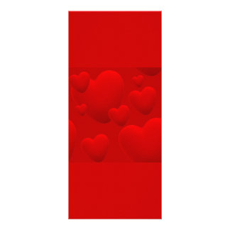 RED LAYERED 3D HEARTS LOVE MOTIVATIONAL SWEETHEART RACK CARD TEMPLATE