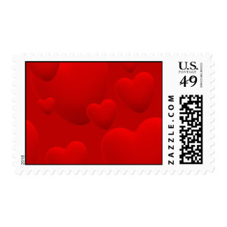 RED LAYERED 3D HEARTS LOVE MOTIVATIONAL SWEETHEART STAMPS