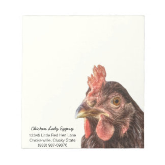 Red Laying Hen Chicken Photo Notepad