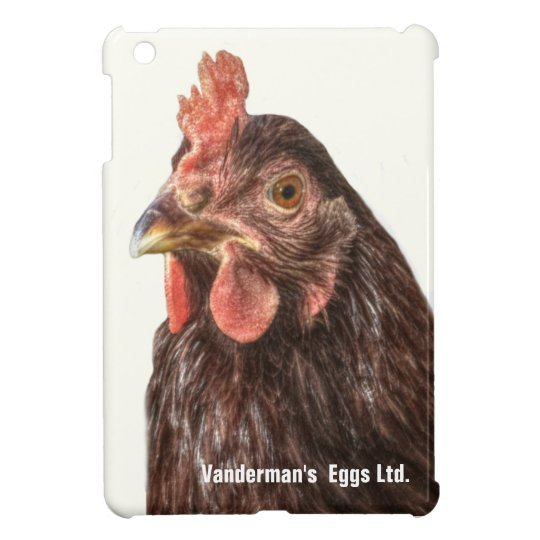 Red Laying Hen HDR Style Photo iPad Mini Cases