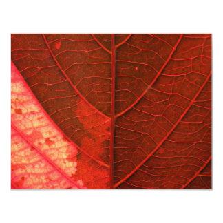 Red Leaf 4.25x5.5 Paper Invitation Card