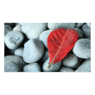 Red leaf and stones Double-Sided standard business cards (Pack of 100)