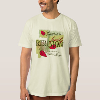 Red Leaf Collage Family Reunion T-shirt