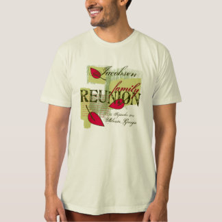 Red Leaf Custom Name Family Reunion T-Shirt