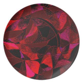 Red Leaf Dinner Plate