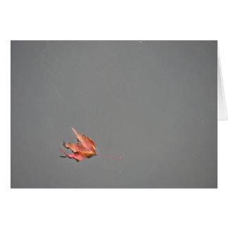 red leaf floating card