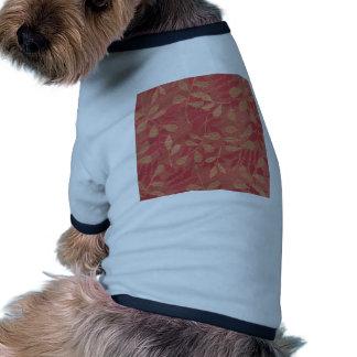 Red Leaf Floral Vinyl Vintage Cool Design Styles Doggie Shirt