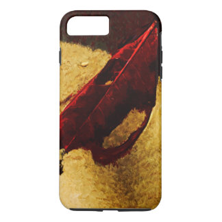 Red Leaf on Beach Abstract Impressionist iPhone 7 Plus Case
