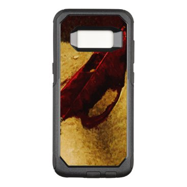 Beach Themed Red Leaf on Beach Abstract Impressionist OtterBox Commuter Samsung Galaxy S8 Case
