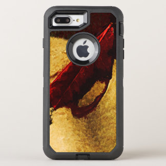 Red Leaf on Beach Abstract Impressionist OtterBox Defender iPhone 7 Plus Case