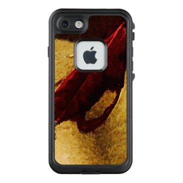 Beach Themed Red Leaf on Hawaiian Beach Abstract LifeProof® FRĒ® iPhone 7 Case