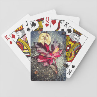 Red Leaf Playing Cards