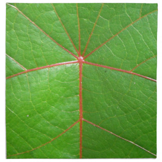 Red Leaf Veins Printed Napkin