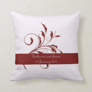 Red Leaf  Wedding Gift for bride Throw Pillow