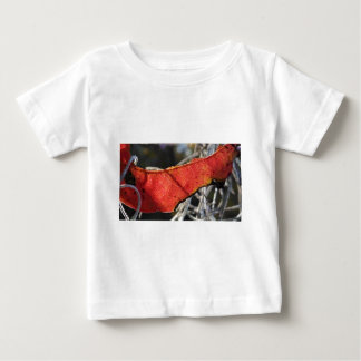 Red leaf with Spanish Moss Baby T-Shirt