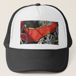 Red leaf with Spanish Moss Trucker Hat