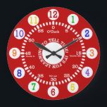 """Red Learning to Tell Time Large Clock<br><div class=""""desc"""">Fun design for this wall clock for children as they learn to tell time.</div>"""