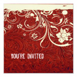 Red Leather and Lace Invitation