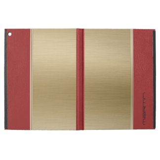 Red Leather And Metallic Gold Texture iPad Pro Case