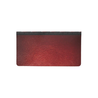 Red Leather Black Texture Checkbook Cover