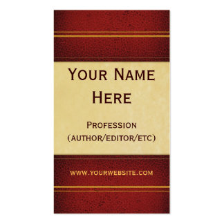 Red Leather Book Business Card