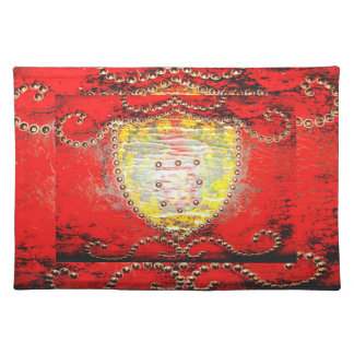 Red Leather Colonia Placemats