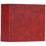 Red Leather Fashion Fabric 3 Ring Binder