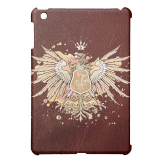Red Leather German Eagle iPad Case