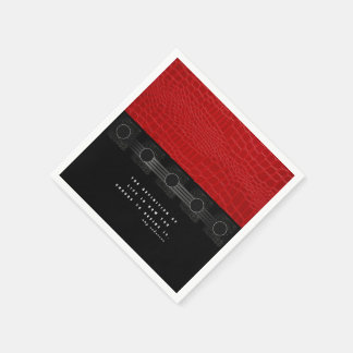Red Leather Life Standard Cocktail Napkin