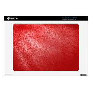 Red Leather Look Acer Chromebook Decal