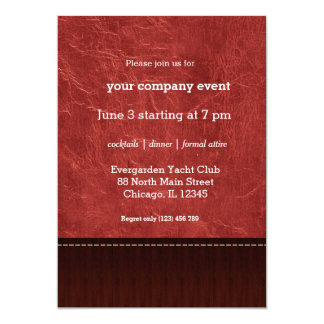 Red leather look card