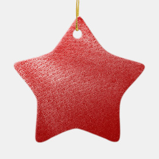 Red Leather Look Ceramic Ornament