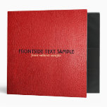 Red Leather Look Customized Avery Binder Binders