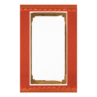 Red Leather Look Designer COWBOYS Stationery