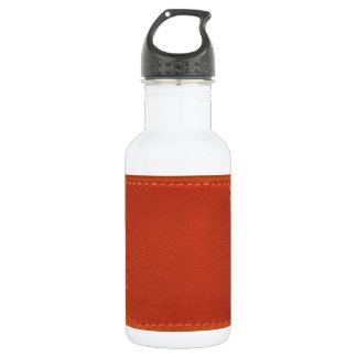 Red Leather Look Designer COWBOYS Water Bottle