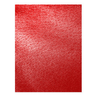 Red Leather Look Postcard