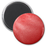 Red Leather Look Refrigerator Magnets
