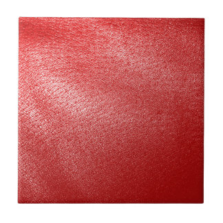 Red Leather Look Ceramic Tiles