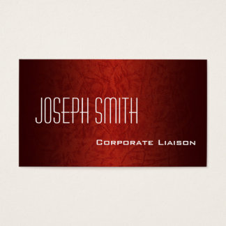 Red Leather Modern Standard Business Cards