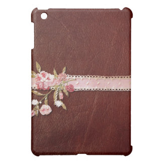 Red Leather Pink Ribbon iPad Case