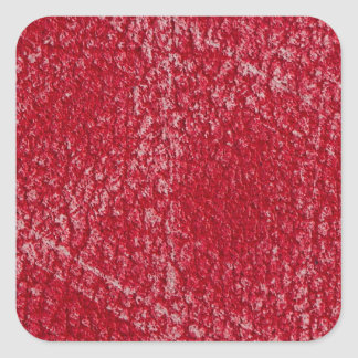 Red leather square sticker
