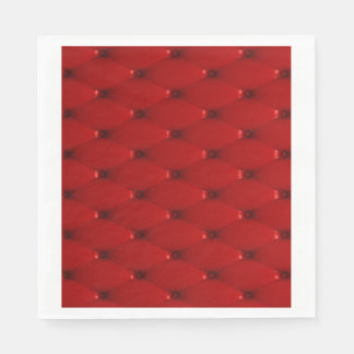 RED LEATHER STANDARD LUNCHEON NAPKIN