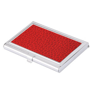Red Leather Texture Case For Business Cards