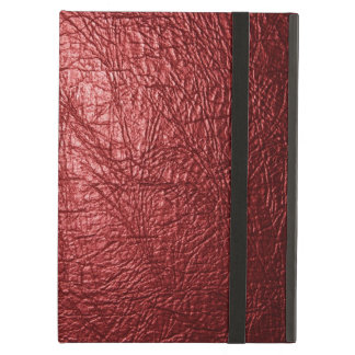 Red leather texture iPad air case