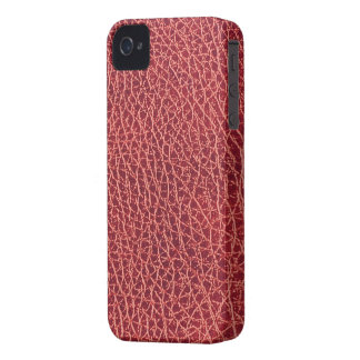 Red Leather Texture iPhone 4/4S Case-Mate B.T. iPhone 4 Case