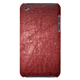red leather texture ipod touch case