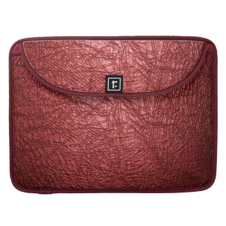red leather texture macbook pro flap sleeve