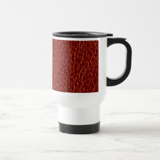 Red Leather Texture Mug